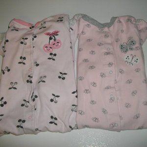 2 Pair Of Pink Footies